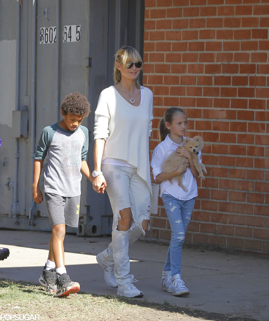 Heidi Klum spent Saturday in LA with her kids.
