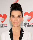 An oversize topknot is a formal favorite, but Julianna Margulies added to the basic look by adding a braid to her bun.