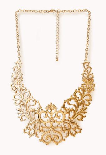 FOREVER 21 Regal Damask Bib Necklace