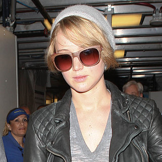 Jennifer Lawrence Wearing a Beanie at LAX