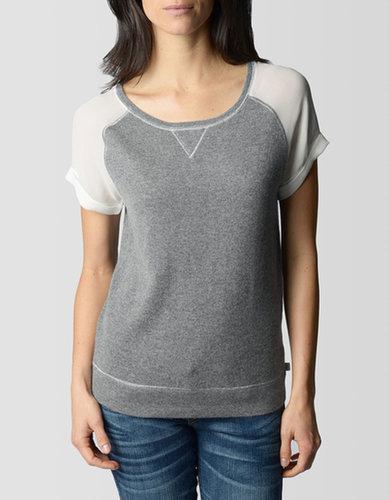 Short Silk Sleeve Cashmere Womens Top