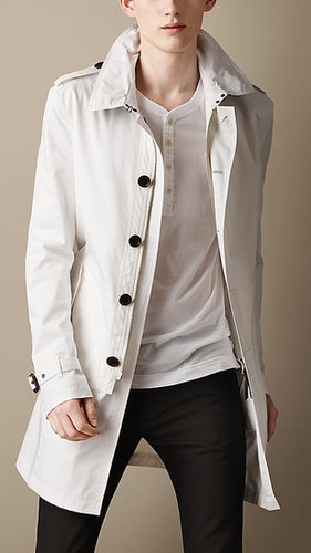 Mid-Length Cotton Twill Trench Coat