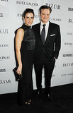 Livia and Colin Firth walked the red carpet at the Harper's Bazaar Women of the Year Awards in London.
