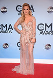 Carrie Underwood walked the red carpet at the CMAs before taking on hosting duties with Brad Paisley.