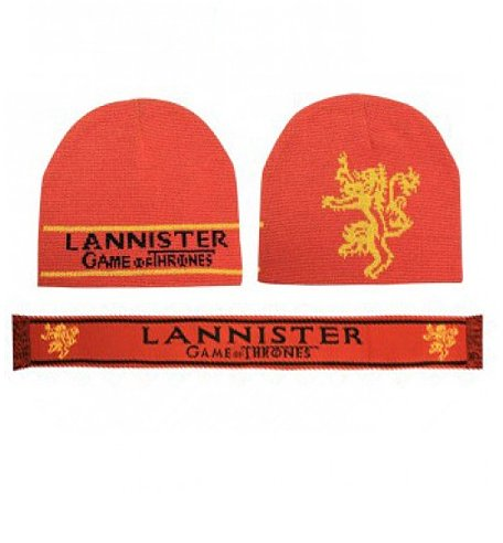 Game of Thrones Lannister Beanie and Scarf Set ($40, originally $45)