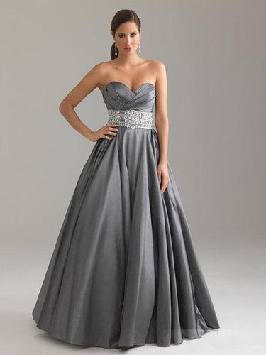A-line Sweetheart Taffeta Floor-length Crystal Detailing Prom Dresses at sweetquinceaneradress.com