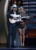 Brad Paisley and Carrie Underwood hit the stage together.