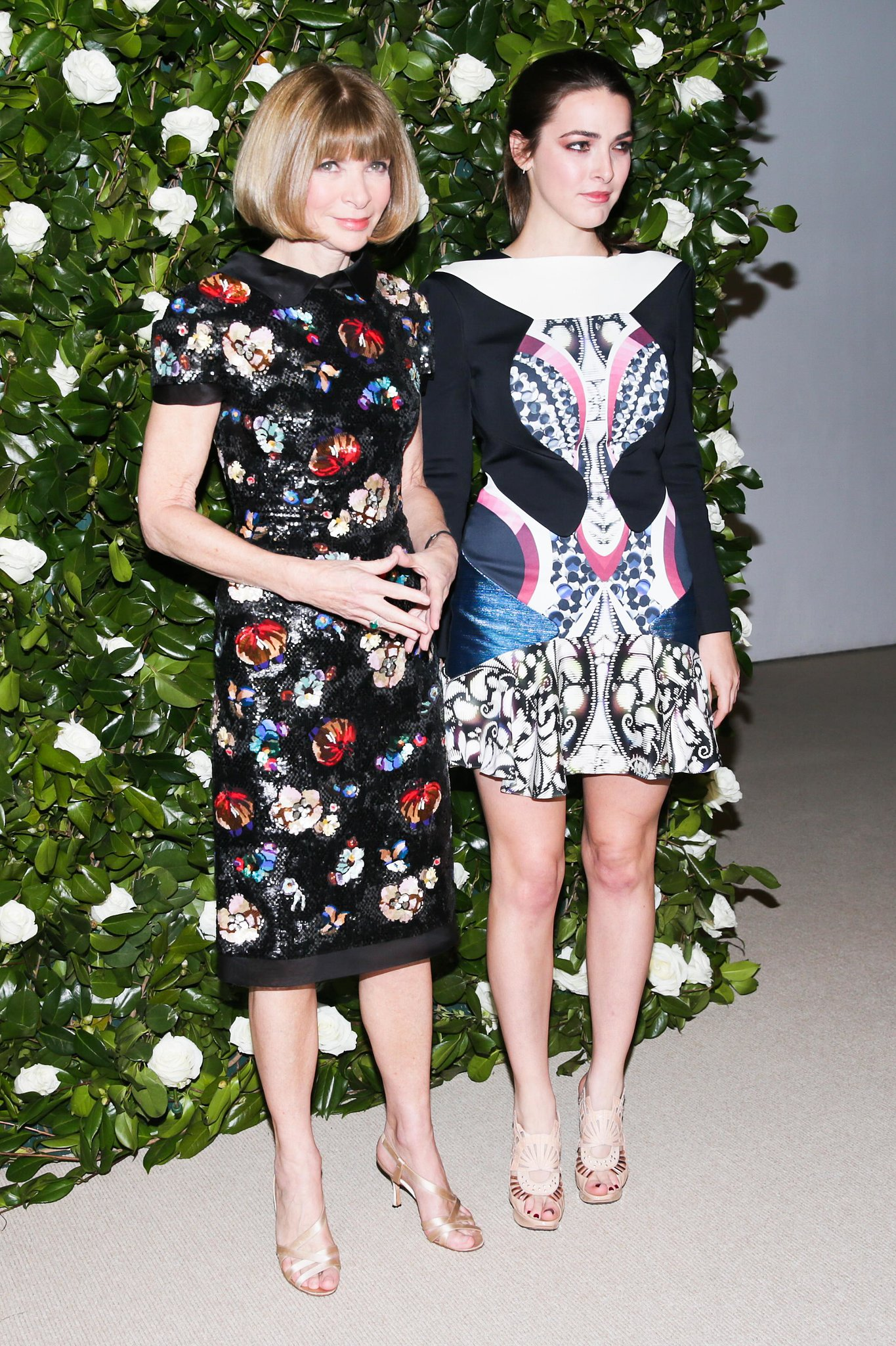 Anna Wintour and Bee Shaffer were print-perfect while walking the carpet for the MoMA Film Benefit presented by Chanel.
