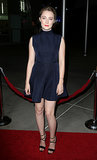 Saoirse Ronan stepped out in a navy Camilla and Marc dress at the How I Live Now premiere.