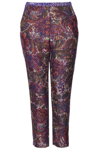 Jacquard Tapestry Cigarette Trousers