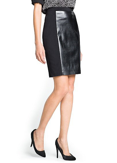 Be one part corporate, one part trendsetter in this Mango faux leather panel skirt ($50).