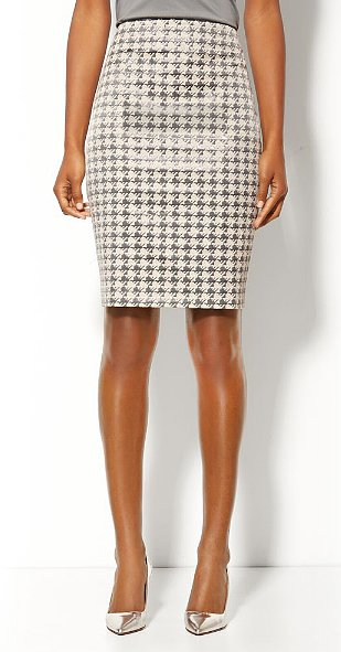 Take this New York & Company coated houndstooth check p