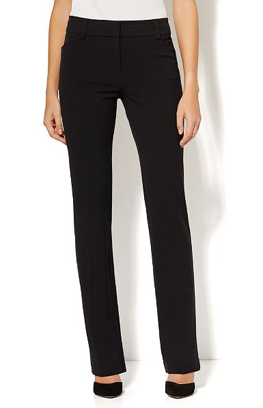 "New York & Company ""The Bleecker Street"" double-stretch, straight-leg pant ($50) are a workwear classic."