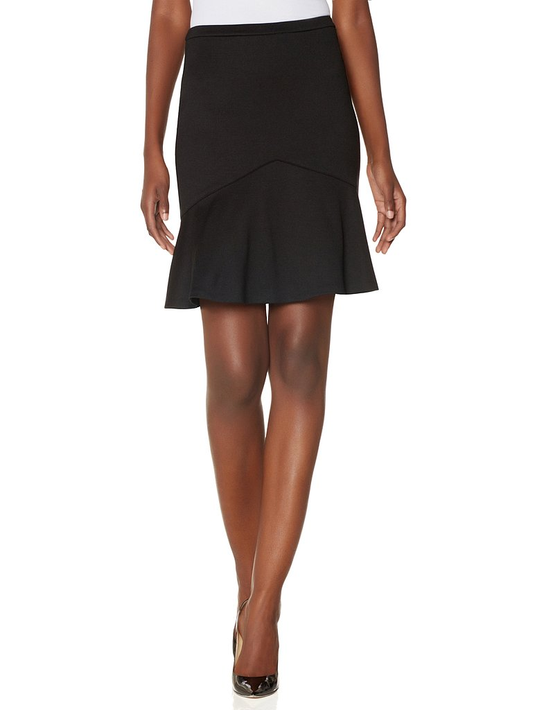 Score the season's must-have skirt silhouette with this The Limited ponte flounce skirt ($50).
