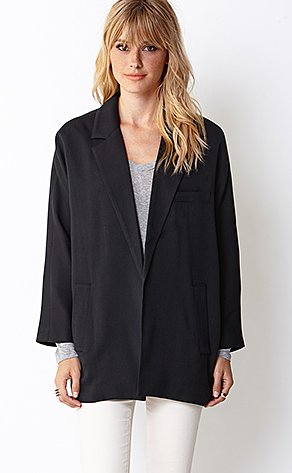 A perfect option for the tomboy, this Forever 21 standout blazer jacket ($33) is like wearing your boyfriend