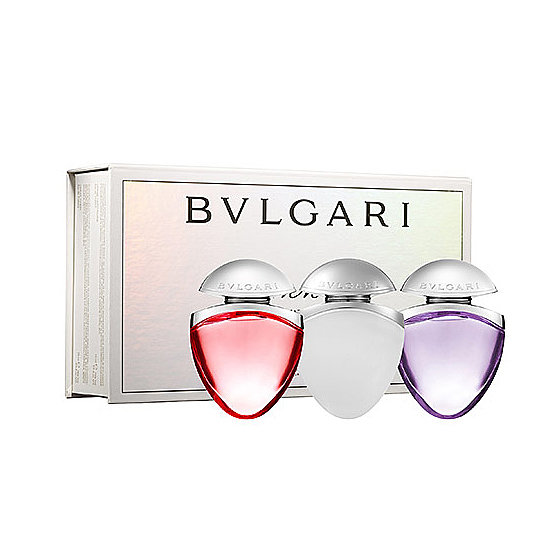 Fans of the Bulgari Omnia Collection will adore this three-piece Jewel Charm Coffret ($60). It includes the fresh coral, the sultry crystalline, and the floral amethyst scents.