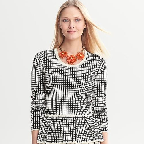 Banana Republic Windowpane Sweater | Review