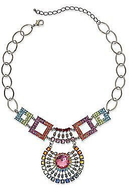 Rainbow Crystal Statement Necklace