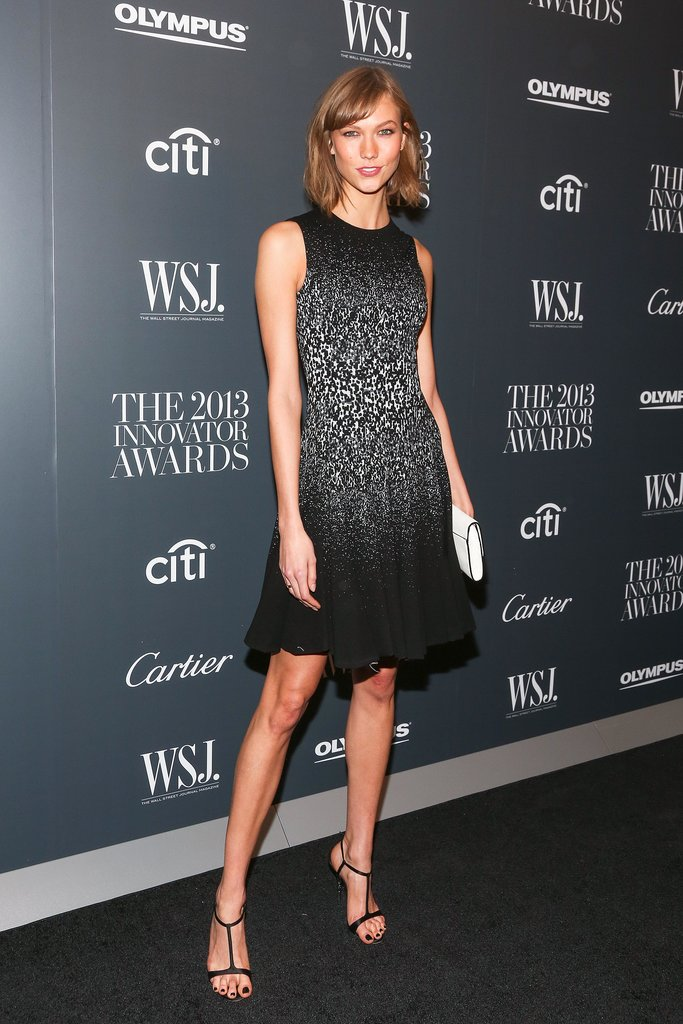 Karlie Kloss shimmered in Prabal Gurung's sparkling number at the WSJ. bash.