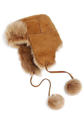 The luxe details make this Brooks Brothers shearling trapper ($268) a truly special gift.