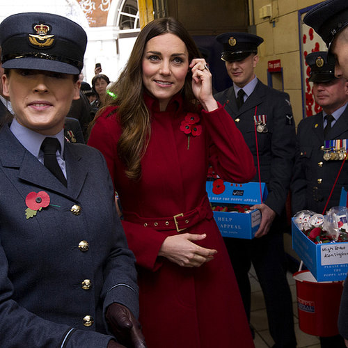 Kate Middleton and Prince William on Poppy Day 2013