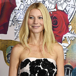 Pictures Of Gwyneth Paltrow In Paris In Black & Cream Dress