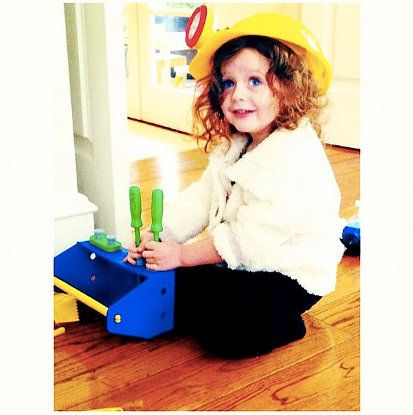 Skyler Berman channeled his inner Bob the Builder with his tool kit. Source: Instagram user rachelzoe