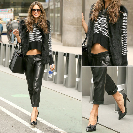 Alessandra Ambrosio Rocks A Crop Top in New York