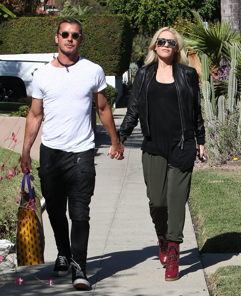 Gwen Stefani and Gavin Rossdale held hands while walking in LA.
