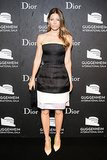 Jessica Biel in Dior Haute Couture Dress