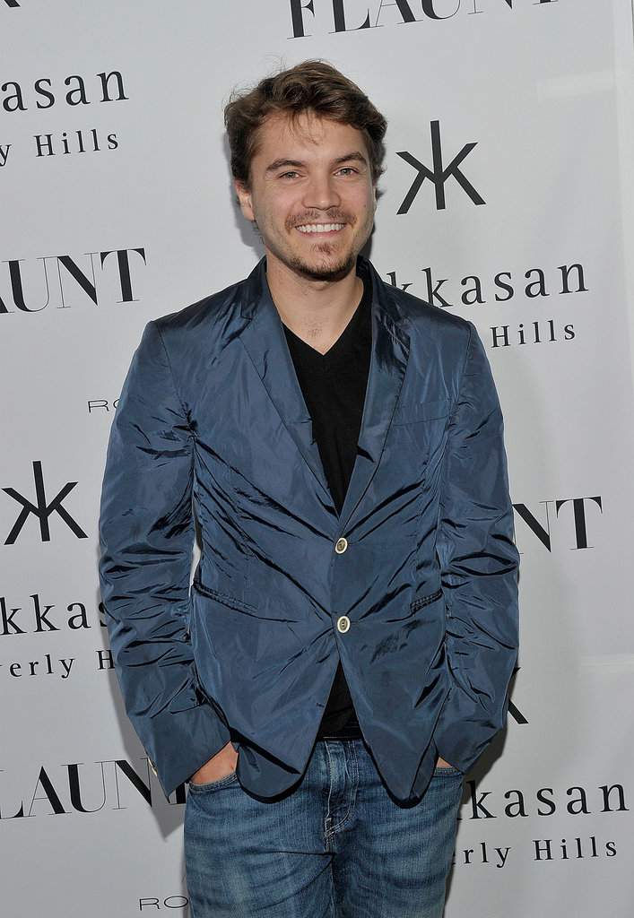 Emile Hirsch attended Flaunt magazine's party.