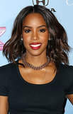 Kelly Rowland showed off an easy, party-ready look at The X Factor's finalists party. Just run a curling iron through your hair for loose waves and swipe on some red lipstick, and you're good to go!