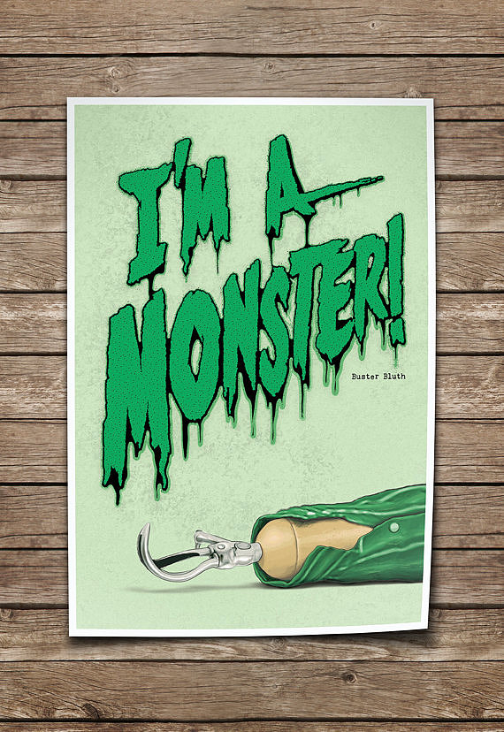 """I'm a Monster"" Poster ($35)"
