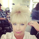 Beth Behrs doesn't look too impressed with her updo. Source: Instagram user bethbehrsreal