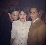 Alexa Chung sported red lips for her 30th birthday. Source: Instagram user chungalexa