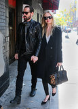 Kate Bosworth showed that a Topshop coat is the perfect piece to cozy up in while out in New York City.