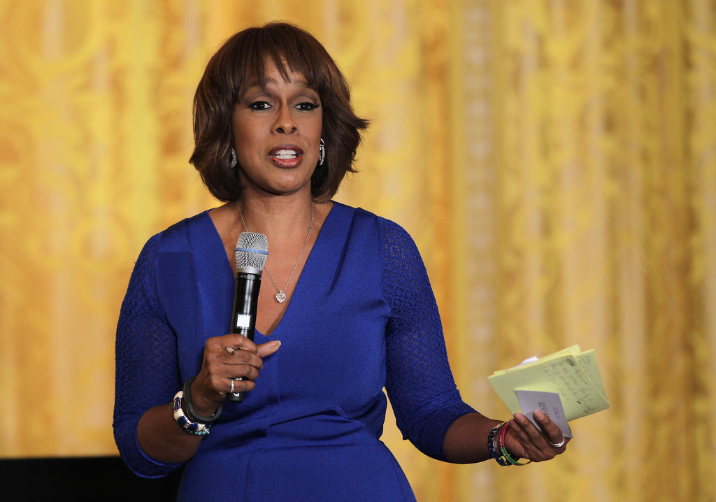 Gayle King spoke during the White House's film industry workshop for students.