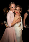 Suki Waterhouse shared a hug with Isla Fisher.