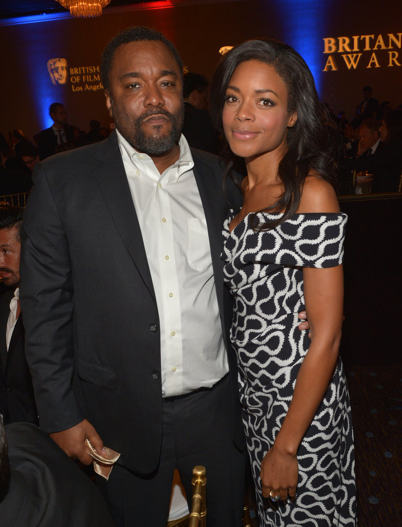 Naomie Harris posed with Lee Daniels at the BAFTA LA Jaguar Britannia Awards.