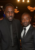 Idris Elba posed with David Oyelowo at the BAFTA LA Jaguar Britannia Awards.