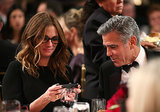 Julia Roberts and George Clooney chatted at their table.