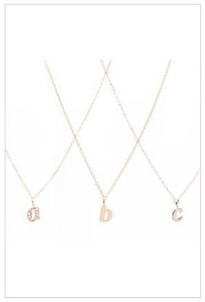 Ariel Gordon Jewelry Mini Alphabet Charm Necklace