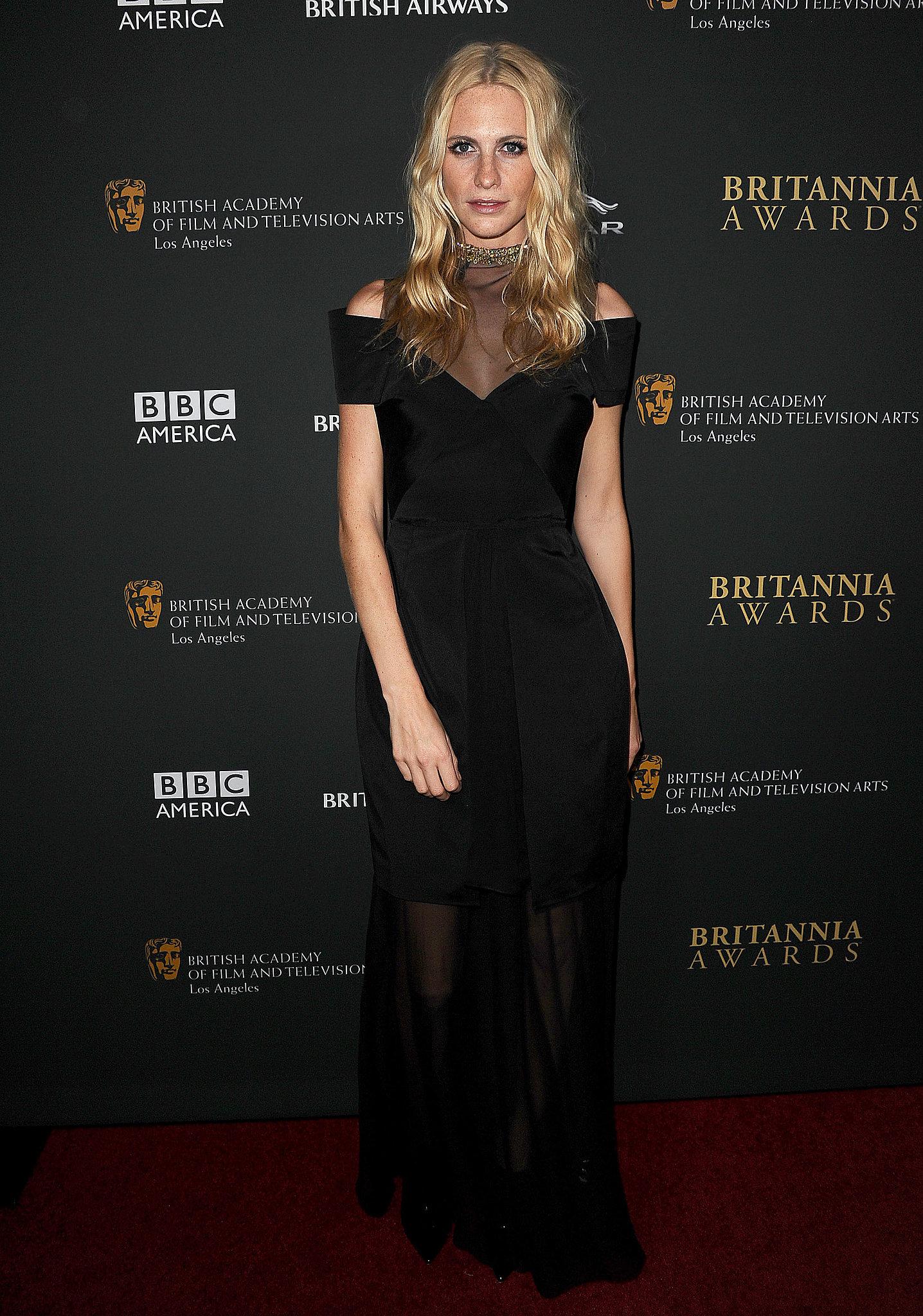 Poppy Delevingne in Marios Schwab at the BAFTA Britannia Award