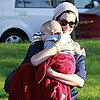 Anne Hathaway Holding a Baby at the Park in LA