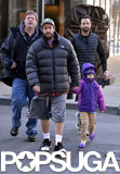 Adam Sandler and his daughter Sunny bundled up for a Sunday walk around NYC.
