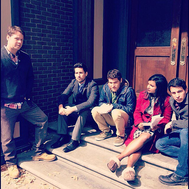Seriously, there is no angle from which Chris Messina doesn't look fantastic. Source: Instagram user mindykaling