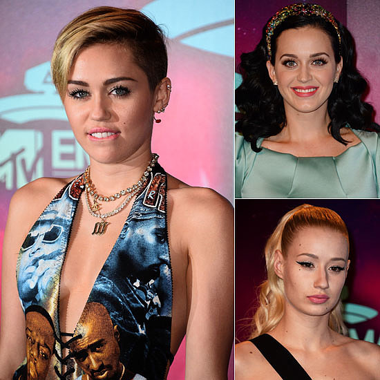 Miley, Katy, Iggy & More: See the MTV EMAs Beauty Looks