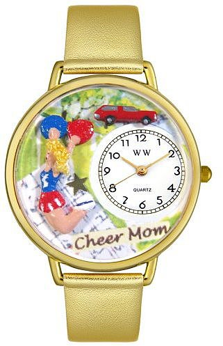 Whimsical Watches Unisex G1010007 Cheer Mom Gold Leather Watch