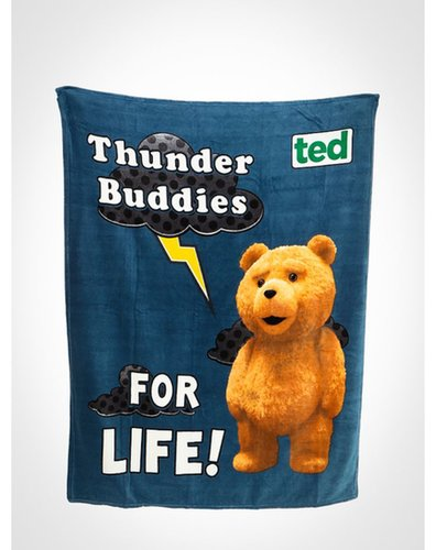 "Ted ""Thunder Buddies"" Fleece Blanket ($18)"