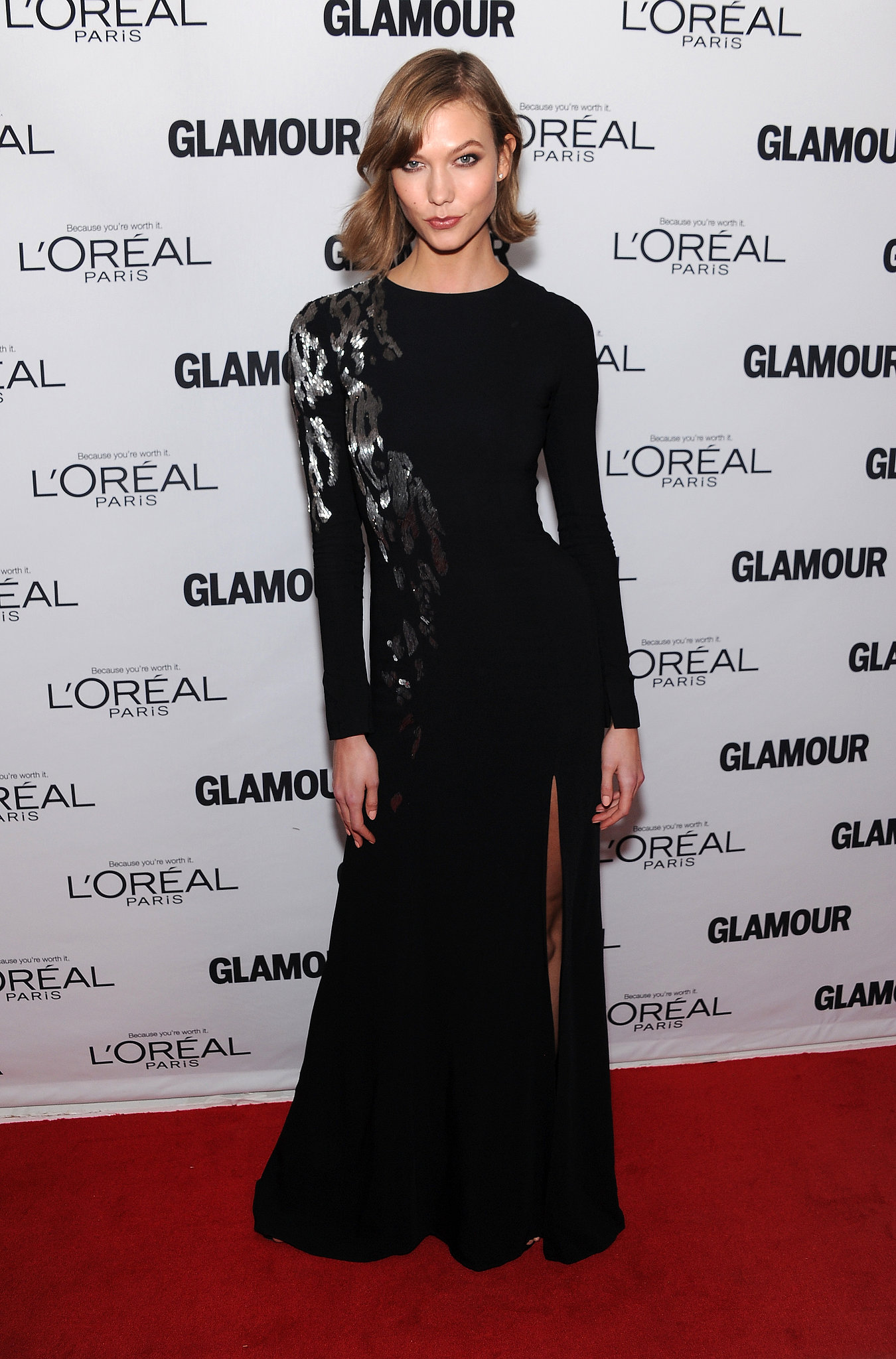 Karlie Kloss in Oscar de la Renta at the Glamour Women of the Year Awards.